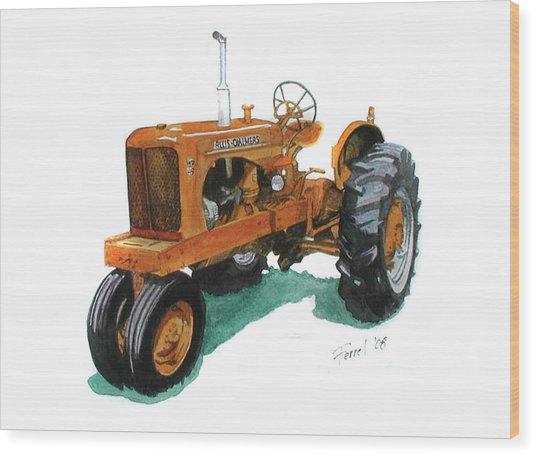 Allis Chalmers Tractor Wood Print