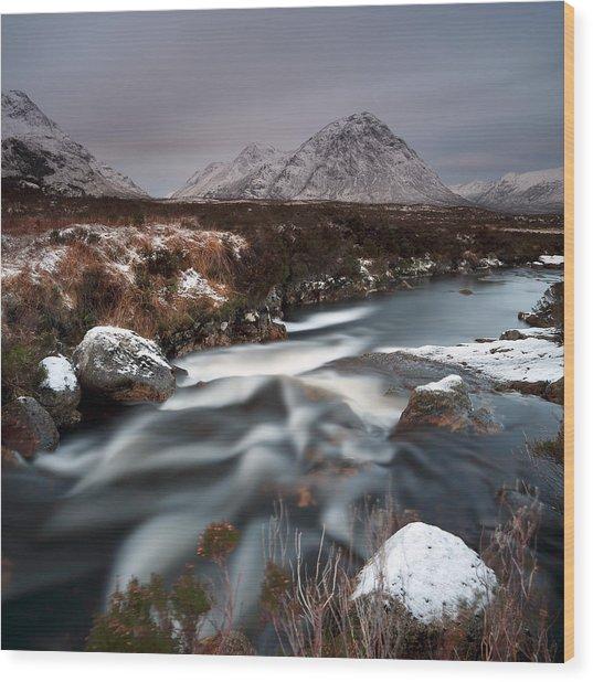 Allt Nan Giubhas And The Peak Of Stob Dearg Wood Print