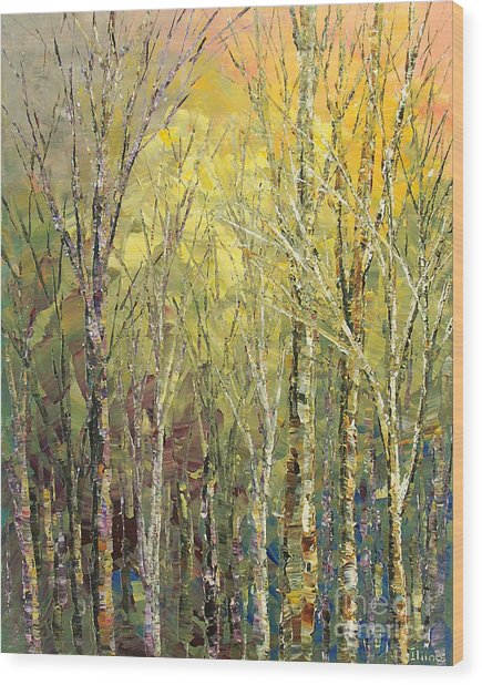 Alluring Song Wood Print