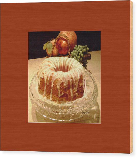 Almond Cheese Pound Cake Wood Print