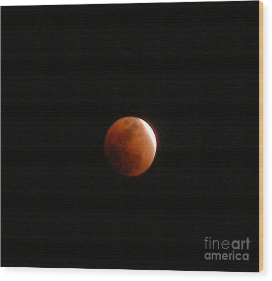 Almost Eclipsed Wood Print by Sibby S