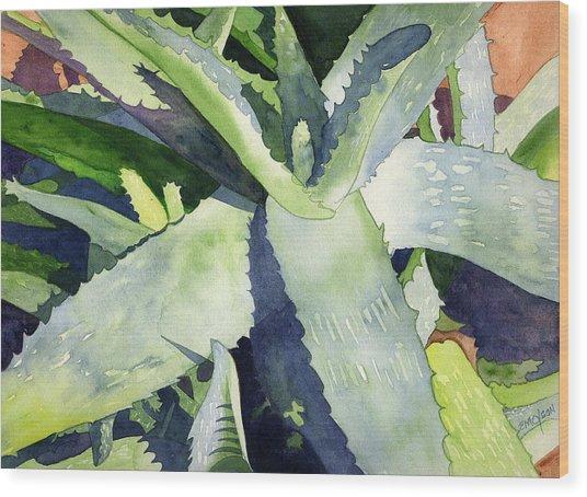 Aloe Wood Print by Eunice Olson