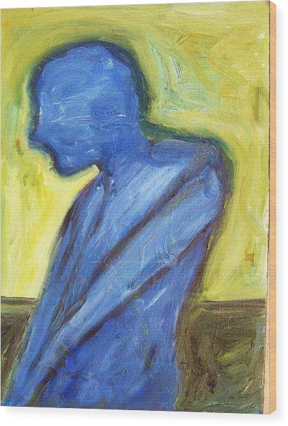 Alone Wood Print by Ron Klotchman