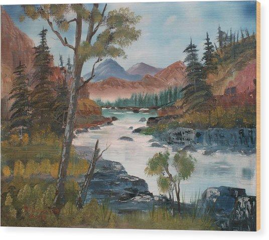 Along Canyon Drive Paradise Montana Wood Print by Larry Hamilton