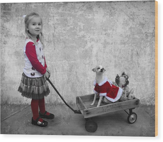 Along For The Ride Wood Print