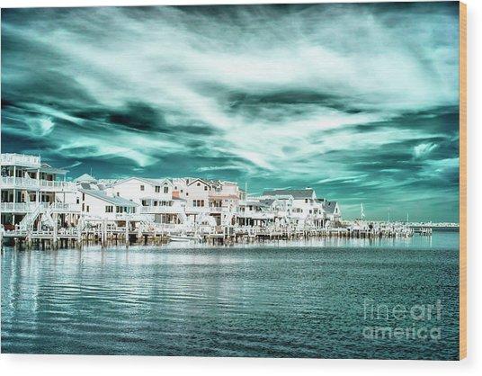 Along The Bay At Long Beach Island Infrared Wood Print by John Rizzuto