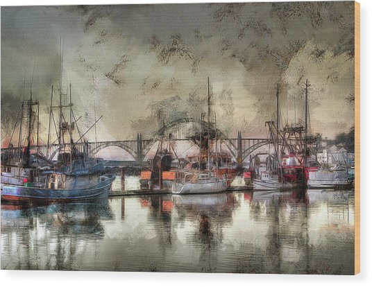 Wood Print featuring the photograph Along The Bay Front by Thom Zehrfeld