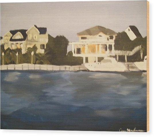 Along The Charleston Sound Wood Print by Casey Bingham