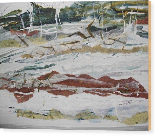 Along The Shore Wood Print by Linda King