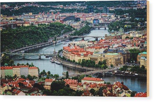 Along The Vltava River Wood Print