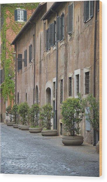 Along Via Giulia Wood Print by JAMART Photography