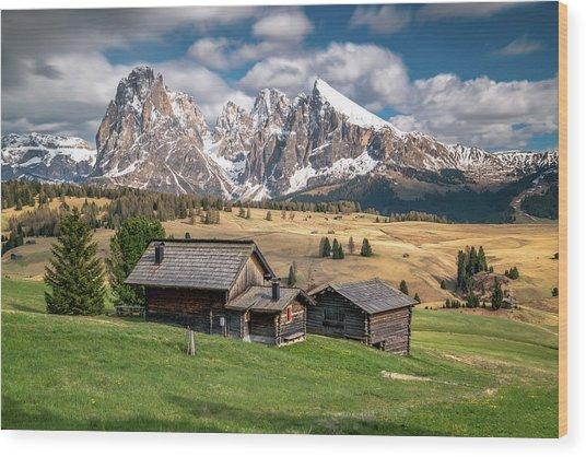 Alpe Di Suisi Cabin Wood Print