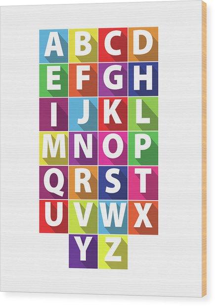 Alphabet Wood Print