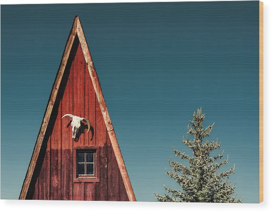 Alpine A-frame Wood Print