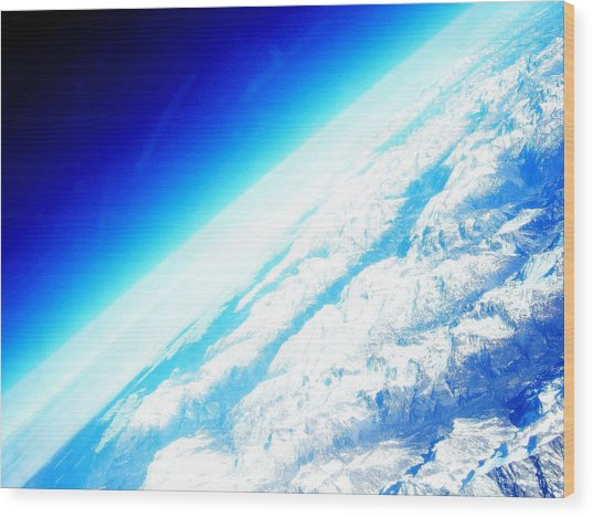 Alpine From Sky Wood Print