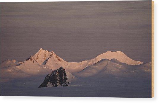Alpine Glow - Antarctica Wood Print