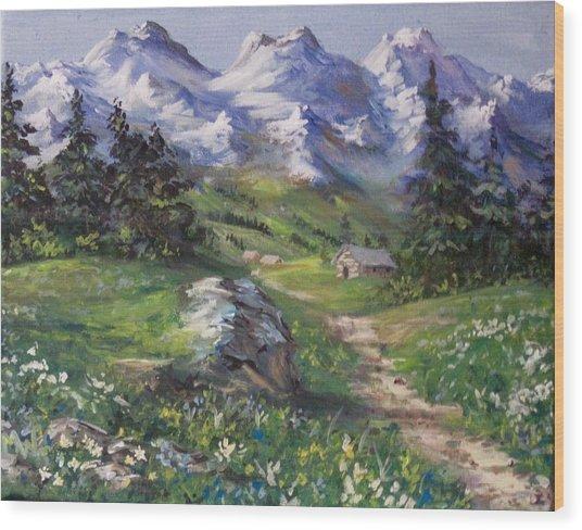 Alpine Splendor Wood Print