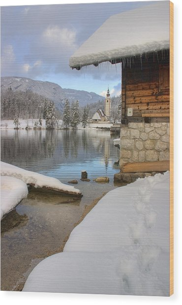 Alpine Winter Clarity Wood Print
