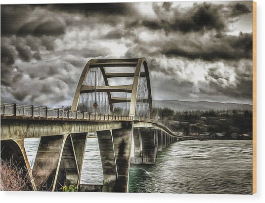 Alsea Bay Bridge Wood Print