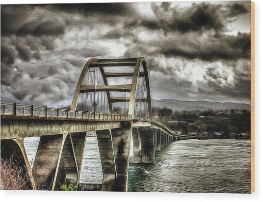 Alsea Bay Bridge Wood Print