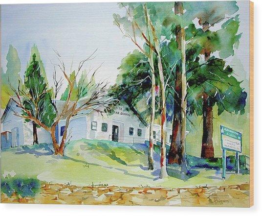 Alta/dutch Flat School Wood Print