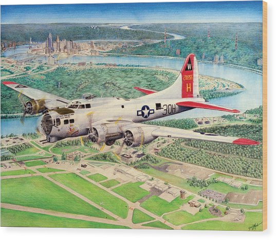 Aluminum Overcast Wood Print by Barry Munden