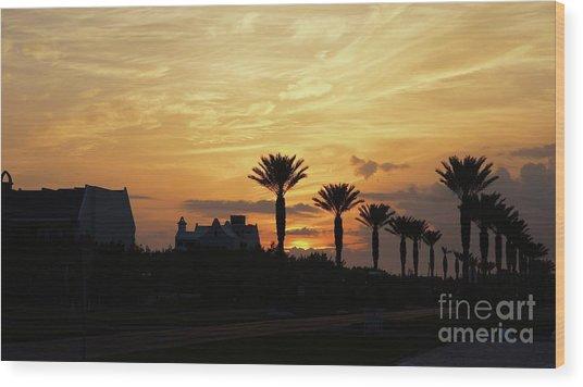 Alys At Sunset Wood Print