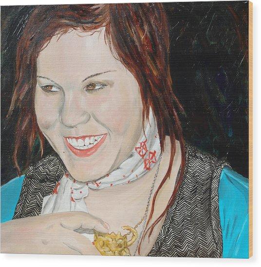 Alyssa Smiles Wood Print by Kevin Callahan