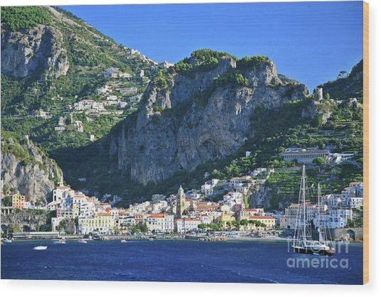 Amalfi Cove Wood Print