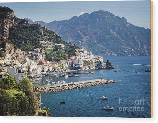Wood Print featuring the photograph Amalfi Harbor by Scott Kemper