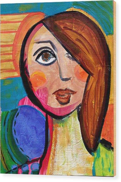 Amanda - Vivid Vixen 1 Wood Print