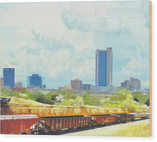 Amarillo Texas In The Spring Wood Print
