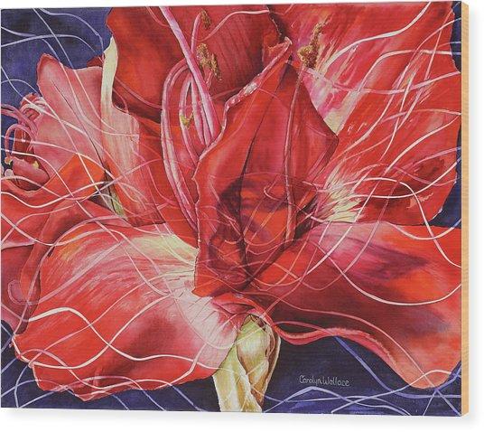 Amaryllis 1 Wood Print