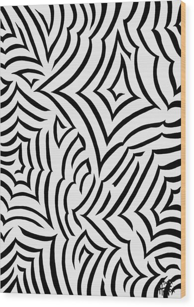 Amazed Wood Print