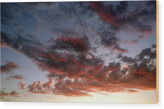 Spectacular Clouds  Wood Print