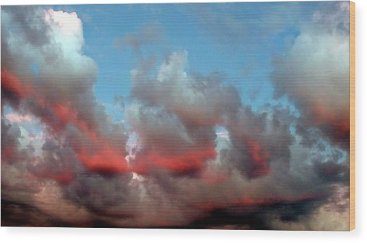 Imaginary Real Clouds  Wood Print