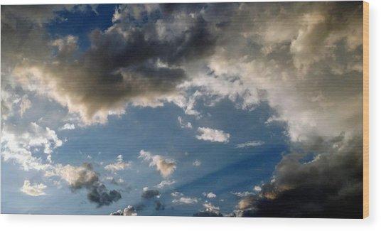 Amazing Sky Photo Wood Print
