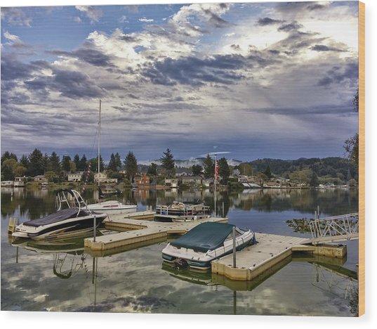 Devils Lake Oregon Wood Print