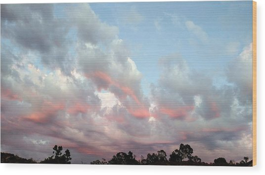 Amazing Clouds At Dusk Wood Print
