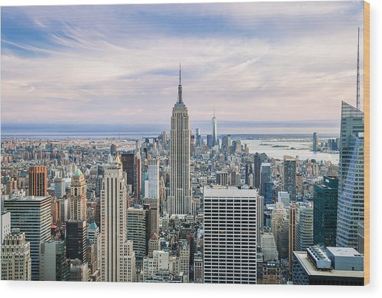 Amazing Manhattan Wood Print