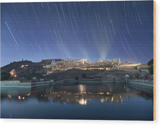 Wood Print featuring the photograph Amber Fort After Sunset by Pradeep Raja Prints