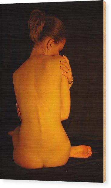 Amber Nudes 2 Wood Print
