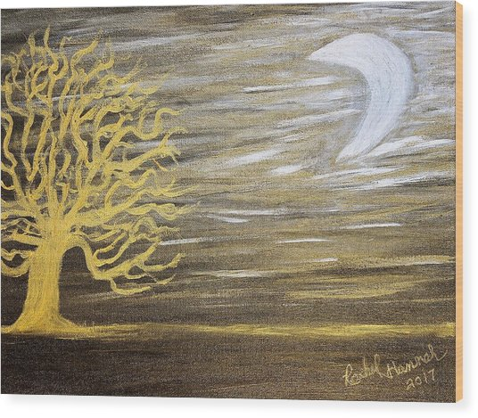 Ambient Night Wood Print