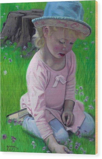 Amelia Wood Print by Laurel Ellis
