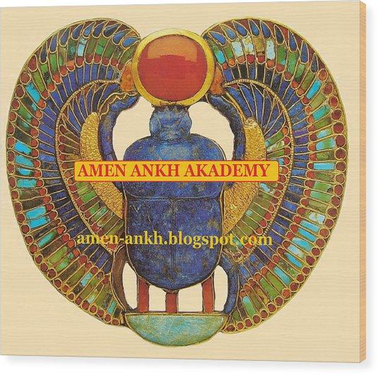 Amen Ankh Akademy Wood Print