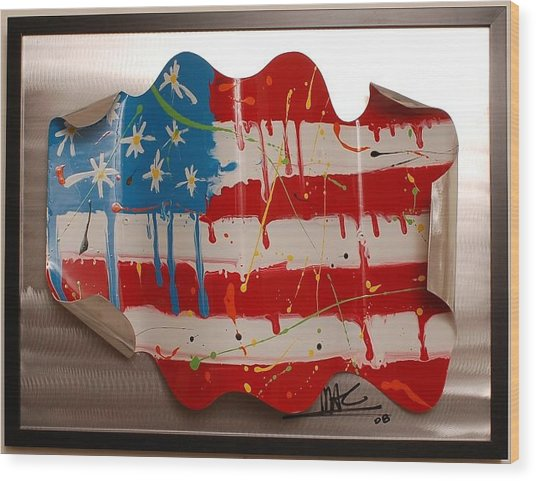 America Edition 2 Wood Print by Mac Worthington