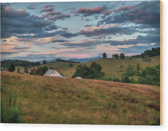 Wood Print featuring the photograph America - Hills Of Virginia 001 by Lance Vaughn