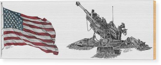 American Artillery Wood Print