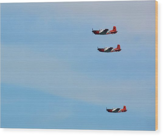 American Aviator Wood Print by JAMART Photography