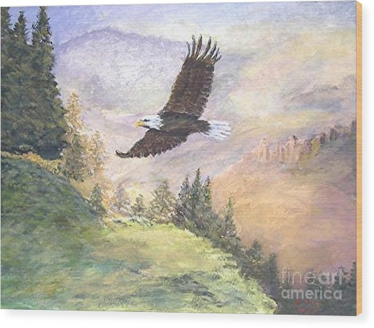 American Bald Eagle Wood Print by Nicholas Minniti